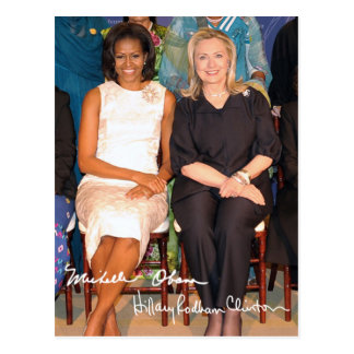 Hillary Clinton & Michele Obama Postcard