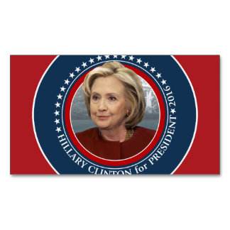 Hillary Clinton Photo - 2016 Campaign Gear Magnetic Business Card