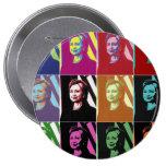 Hillary Clinton Pop Art 4 Inch Round Button