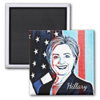 Hillary Clinton Portrait Pop Art Magnet