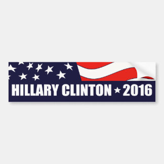 Hillary Clinton President 2016 American Flag Car Bumper Sticker