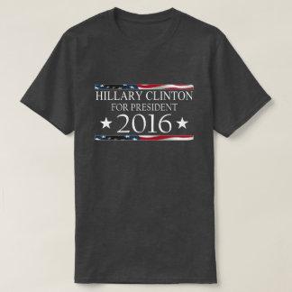 Hillary Clinton President 2016 American Flag T-Shirt
