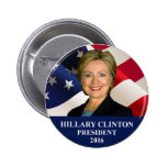 Hillary Clinton President 2016 Button Pin 2""