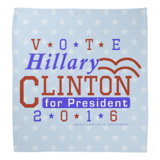 Hillary Clinton President 2016 Election Democrat Kerchiefs