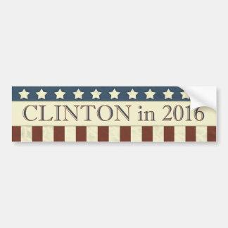 Hillary Clinton President 2016 Stars Stripes Car Bumper Sticker
