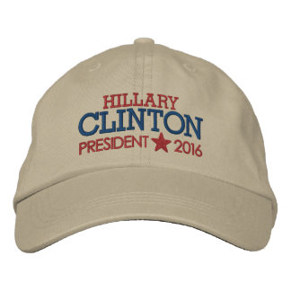 Hillary Clinton - President 2016 with Star Embroidered Hat