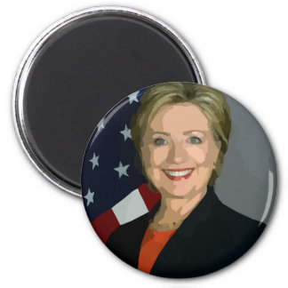 Hillary Clinton Round Magnet