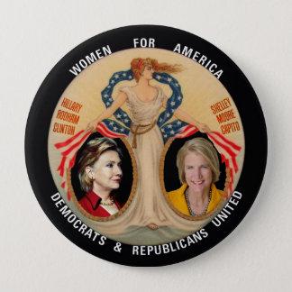 Hillary Clinton/Shelley Capito 2016 10 Cm Round Badge