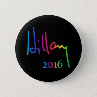 Hillary Clinton Signature Rainbow Pride 6 Cm Round Badge
