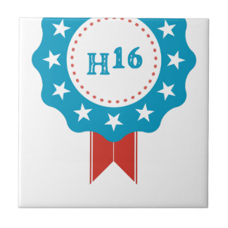 Hillary Clinton Small Square Tile
