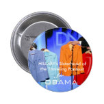 Hillary Clinton Supporters for Obama 6 Cm Round Badge
