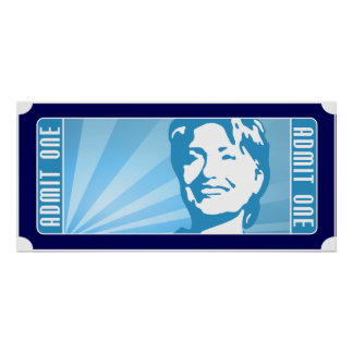 hillary clinton. the ticket. poster