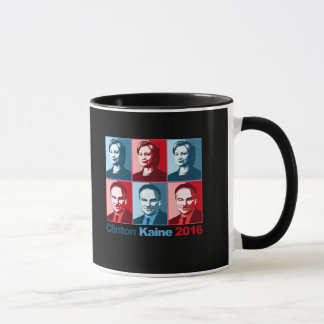 Hillary Clinton Tim Kaine 2016 - Block Art - Mug