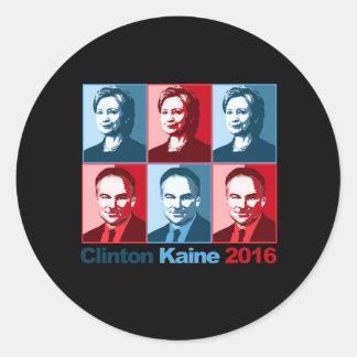 Hillary Clinton Tim Kaine 2016 - Block Art - Round Sticker
