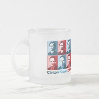 Hillary Clinton Tim Kaine 2016 Frosted Glass Coffee Mug