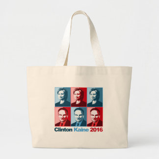 Hillary Clinton Tim Kaine 2016 Large Tote Bag
