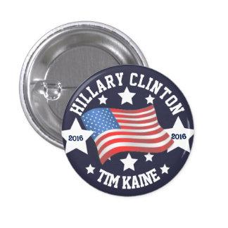 Hillary Clinton / Tim Kaine 3 Cm Round Badge