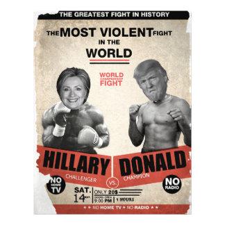 Hillary Clinton vs. Donald Trump 2016 21.5 Cm X 28 Cm Flyer