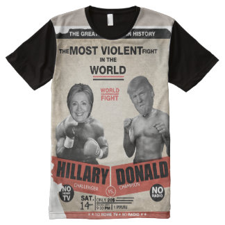 Hillary Clinton vs. Donald Trump Vintage Boxing All-Over Print T-Shirt