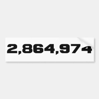 Hillary Clinton's Margin Of Victory: 2,864,974 Bumper Sticker
