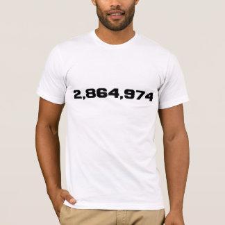 Hillary Clinton's Margin Of Victory: 2,864,974 T-Shirt