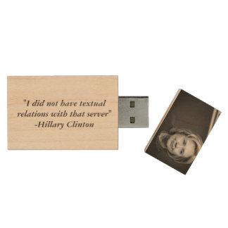 Hillary Clinton's USB Drive Wood USB 2.0 Flash Drive