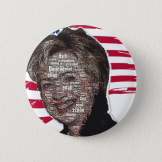 Hillary Email Scam Image 6 Cm Round Badge