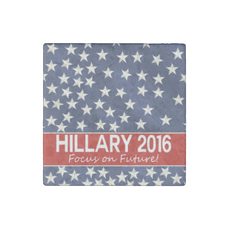 Hillary Focus on Future Stone Magnet