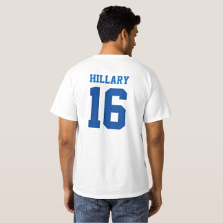 Hillary for POTUS 2016 Jersey Lettering Tees