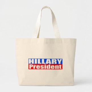 Hillary for President Jumbo Tote Bag