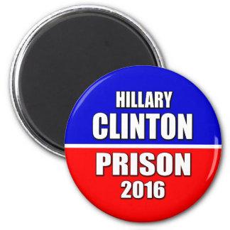 """HILLARY FOR PRISON 2016"" 6 CM ROUND MAGNET"