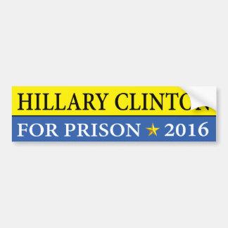 """""""HILLARY FOR PRISON 2016"""" BUMPER STICKER"""