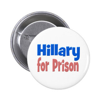 Hillary for Prison Button, pink & blue 6 Cm Round Badge