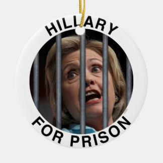 Hillary for Prison Ceramic Ornament