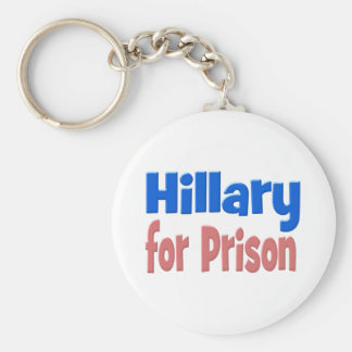 Hillary for Prison Key Chain, pink & blue Key Ring