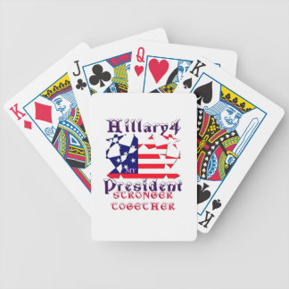 Hillary For USA President We are Stronger Together Poker Deck