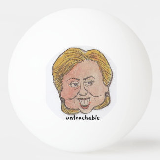 Hillary hater gag gift ping pong ball