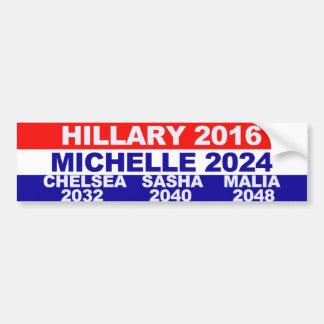 Hillary, Michelle, Chelsea, Sasha, Malia Bumper Stickers