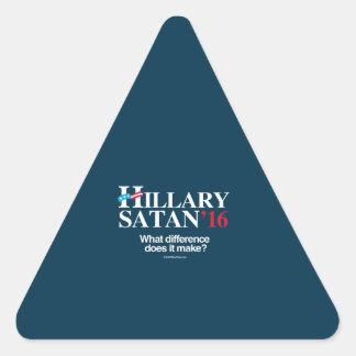Hillary or Satan - Anti Hillary Triangle Stickers