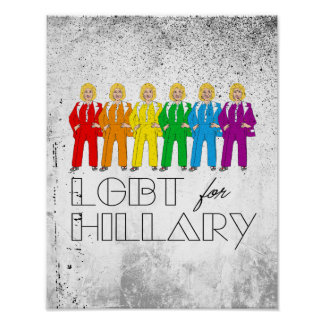 Hillary Pantsuit Pride - LGBT for Hillary - Poster