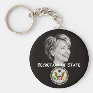 Hillary State Keychain