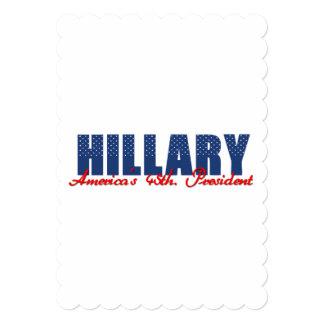 Hillary The 45th. President 13 Cm X 18 Cm Invitation Card
