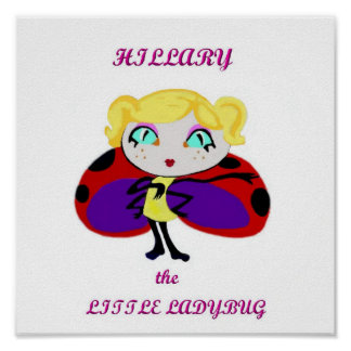 Hillary the Little Ladybug, book series Character Poster