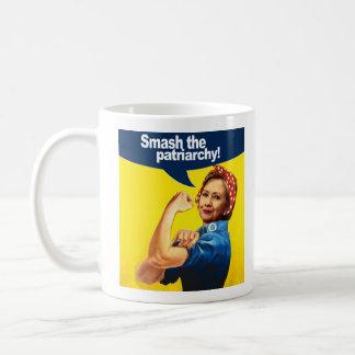 Hillary the Riveter - Smash the Patriarchy --  Coffee Mug