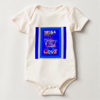 Hillary USA President Stronger Together spirit Baby Bodysuit