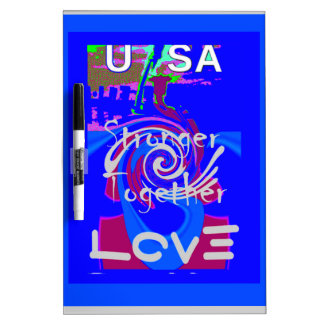 Hillary USA President Stronger Together spirit Dry Erase Board