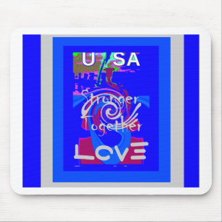 Hillary USA President Stronger Together spirit Mouse Pad