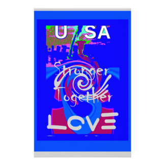 Hillary USA President Stronger Together spirit Stationery