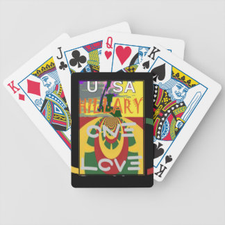 Hillary USA  Stronger Together Vote One Love For H Bicycle Playing Cards