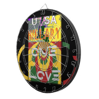 Hillary USA  Stronger Together Vote One Love For H Dartboards